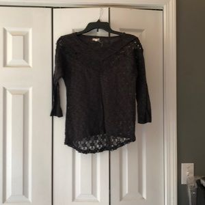Gray 3 quarter length blouse